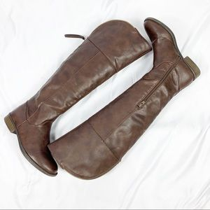 Mossimo Brown Faux Leather Tall Riding Boots